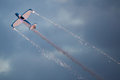 Twister acrobatic team aircraft x silence twister festa al cel sky party air show mataro spain september Stock Photos