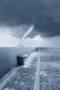 Twister on the sea Stock Photography