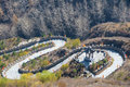 Twisting mountain road Royalty Free Stock Photo