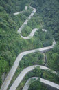 Twisting and Winding Road Royalty Free Stock Photo