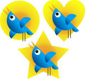Twitter Birds Stock Image