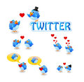 Twitter birds love Royalty Free Stock Photos