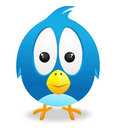 Twitter Cute Bird Vector