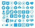 Twitter icon, Illustration of twitter icon collection, Social Media, isolated on white.