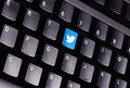 Twitter keyboard johor malaysia sep icon on the is famous website in the world sep in johor malaysia Royalty Free Stock Photography