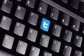 Twitter keyboard johor malaysia sep icon on the is famous website in the world sep in johor malaysia Stock Images