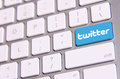 Twitter keyboard johor malaysia sep icon on the is famous website in the world sep in johor malaysia Stock Photo