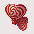 Two abstract heart for valentines day s with optical effect Stock Photos