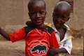 Two african boys Stock Images