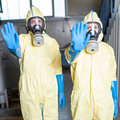 Two aid workers prohibit access health warn of ebola Stock Photo