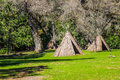 Two American Indian Tepees Royalty Free Stock Photo