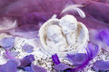 Two angels at the wedding table Royalty Free Stock Photography