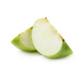 Two apple slices isolated Royalty Free Stock Photo