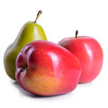 Two apples and pear Royalty Free Stock Photo