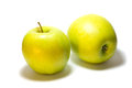 Two apples on the white background Royalty Free Stock Images