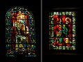 Two Art Deco style stained glass, Montmarte, Paris Royalty Free Stock Photo