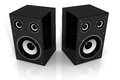 Two audio speakers d illustration of isolated background Royalty Free Stock Photography