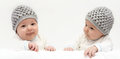 Two babies Royalty Free Stock Photo