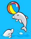 Two baby dolphins Stock Image