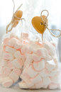 Two bags marshmallow Royalty Free Stock Photo