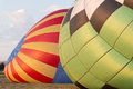 Two Balloons Being Inflated Royalty Free Stock Photo