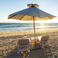 Two beach chairs Royalty Free Stock Images