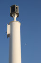 Two beacons port beacon and moon behind it represent most important for every sailor Royalty Free Stock Photography