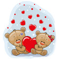 Two Bears with heart Royalty Free Stock Photo