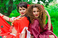 Two beautiful gypsy girls Royalty Free Stock Images