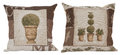 Two Beautiful pillows with tapestry Royalty Free Stock Photo