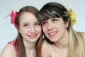 Two beautiful teen girls Stock Images