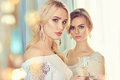 Two beautiful women.party Royalty Free Stock Photo
