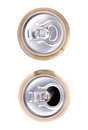 Two beer can on white background Royalty Free Stock Photo