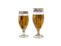 Two beers isolated Royalty Free Stock Photo