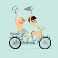Bicycle vector infographic template in flat style