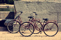 Two bicycle parked on the waterfront Royalty Free Stock Photo