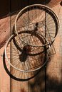 Two bicycle wheels Royalty Free Stock Photo