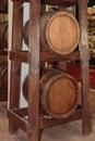 Two Big Oak wooden Barrels Royalty Free Stock Photo