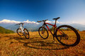 Two bikes Royalty Free Stock Photo