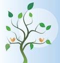 Two birds Royalty Free Stock Photo