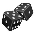 Two black dice Royalty Free Stock Photo