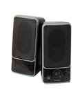 Two black  speaker. Isolated  over white Stock Photos
