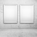Two blank frame Royalty Free Stock Photo