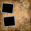 Two blank photos Royalty Free Stock Photo