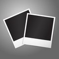 Two blank vector instant photo frames template for your photos design etc with place for your text Royalty Free Stock Images