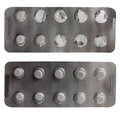 Two blister packs of white sleeping pills Stock Photography