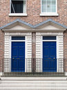 Two blue doors Stock Image