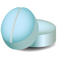 Two blue pills a set of vector illustration Royalty Free Stock Image