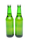 Two bottles of light ale on white background see my other works in portfolio Royalty Free Stock Images