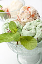 Two Bowls of Ice Cream Royalty Free Stock Photo